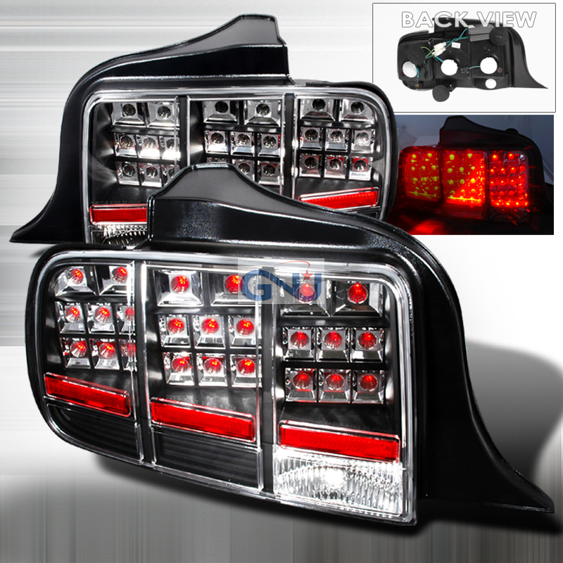 Ford Mustang  2005-2009 Black LED Tail Lights
