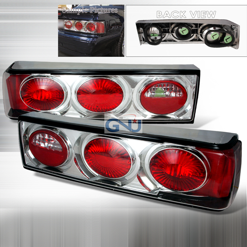 Ford Mustang  1987-1993 Chrome Euro Tail Lights