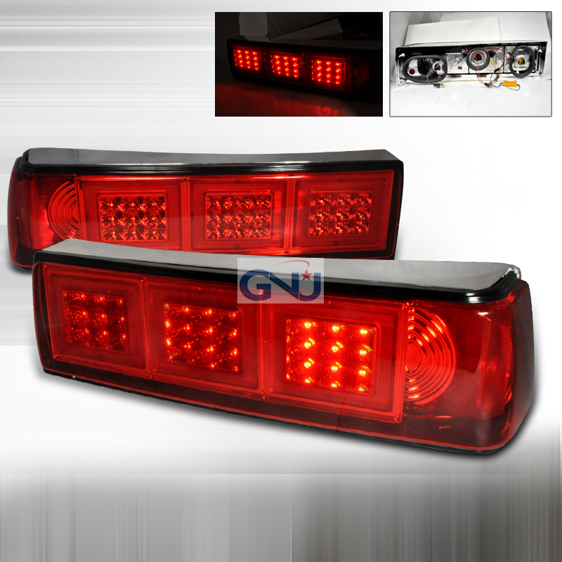 Ford Mustang  1987-1993 Red LED Tail Lights
