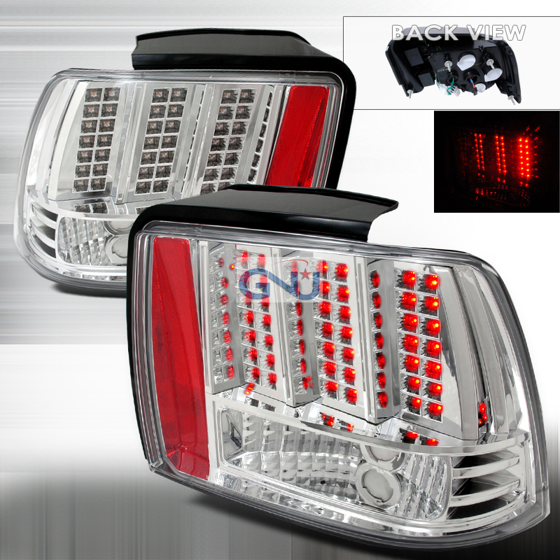 Ford Mustang  1999-2004 Chrome LED Tail Lights