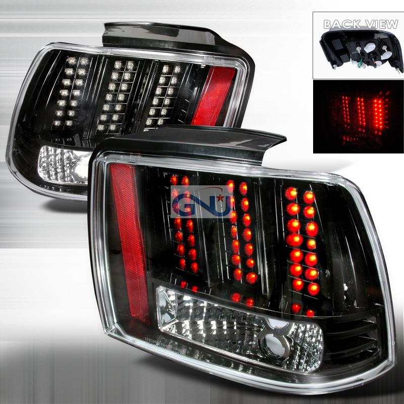 ford mustang 1999 2004 black led tail lights by spec d. Black Bedroom Furniture Sets. Home Design Ideas