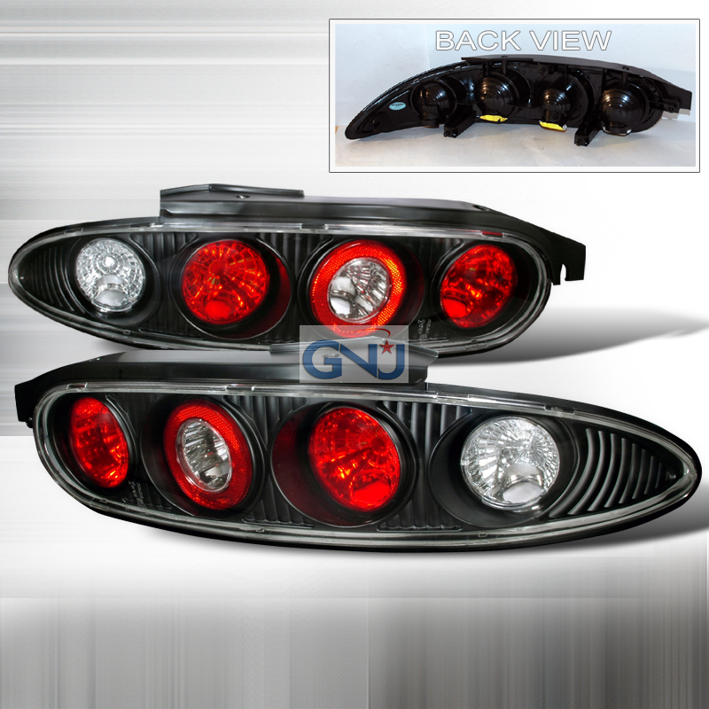 Mazda Mx3  1992-1995 Black Euro Tail Lights