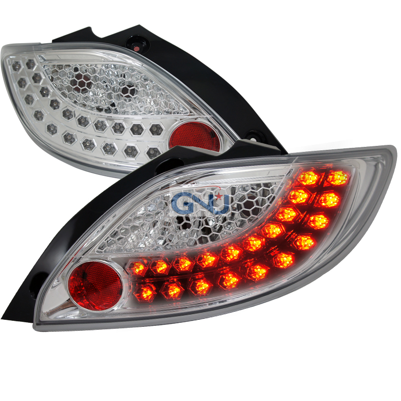 Mazda Mazda 2  2011-2012 Chrome LED Tail Lights