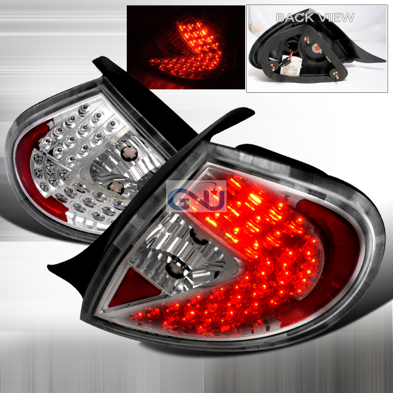 Dodge Neon  2000-2002 Chrome LED Tail Lights