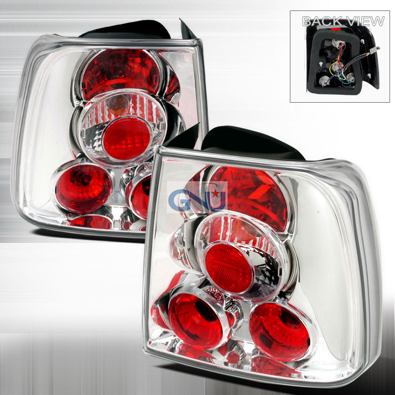 Volkswagen Passat  1997-2000 Chrome Euro Tail Lights