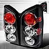 2009 Nissan Pathfinder   Black Euro Tail Lights