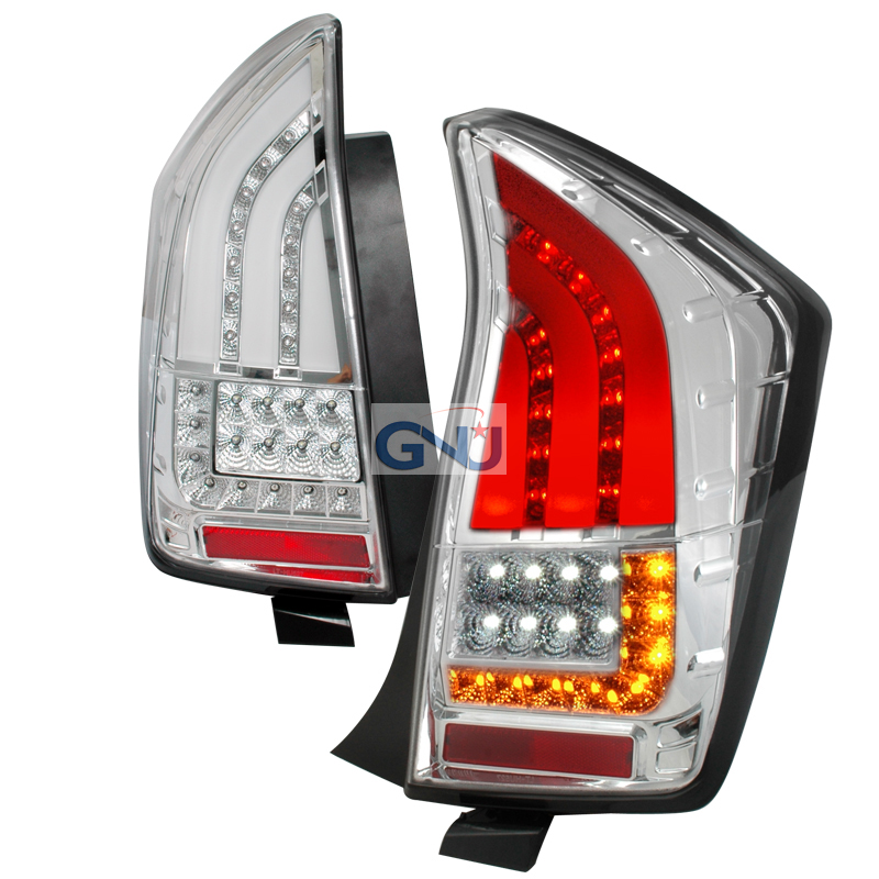 Toyota Prius  2010-2012 Chrome LED Tail Lights