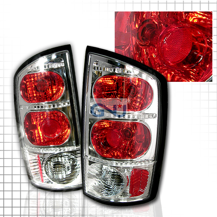 Dodge Ram  2002-2005 Chrome Euro Tail Lights