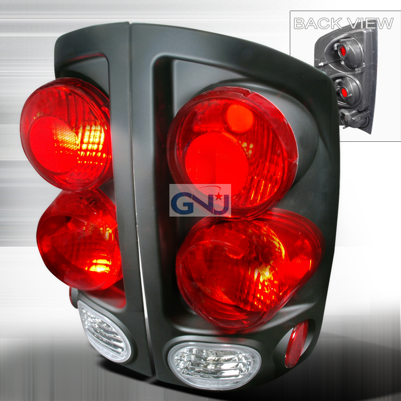 Dodge Ram  2002-2006 Black Euro Tail Lights