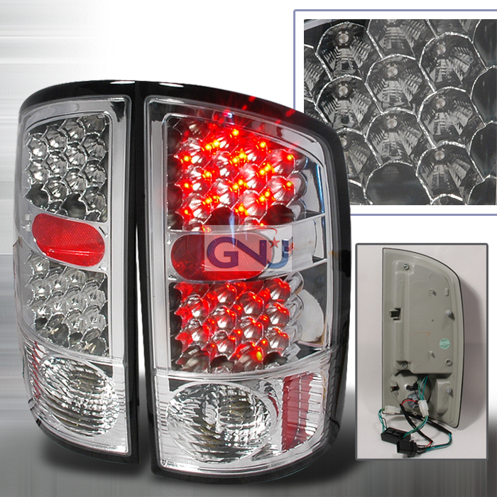 Dodge Ram  2002-2006 Chrome LED Tail Lights