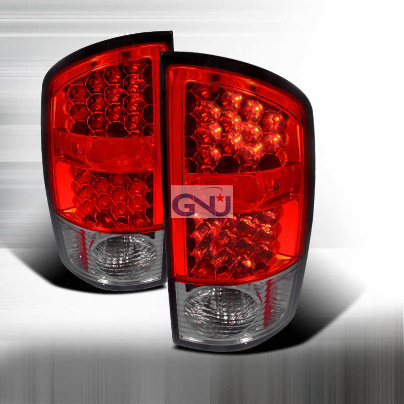Dodge Ram 2002-2003 LED Tail Lights -  Red Smoke