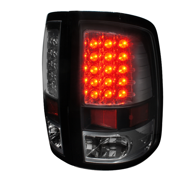 Dodge Ram  2009-2011 Black LED Tail Lights