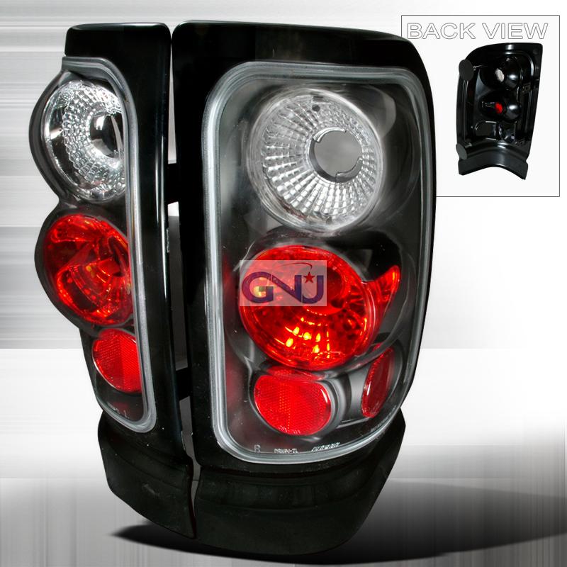 Dodge Ram  1994-2001 Black Euro Tail Lights