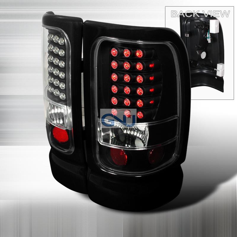 Dodge Ram  1994-2001 Black LED Tail Lights