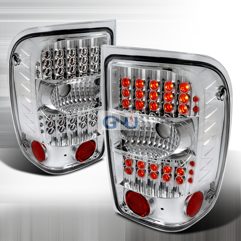 Ford Ranger  2001-2004 Chrome LED Tail Lights