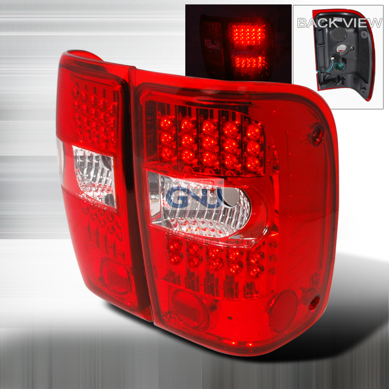 Ford Ranger  2001-2003 Chrome LED Tail Lights