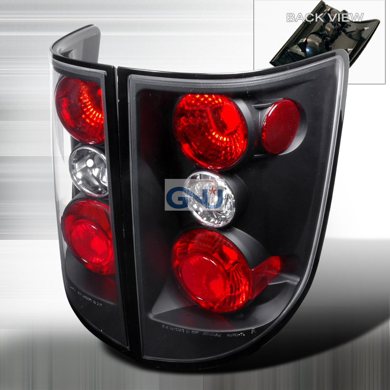 Honda Ridgeline  2005-2010 Black Euro Tail Lights