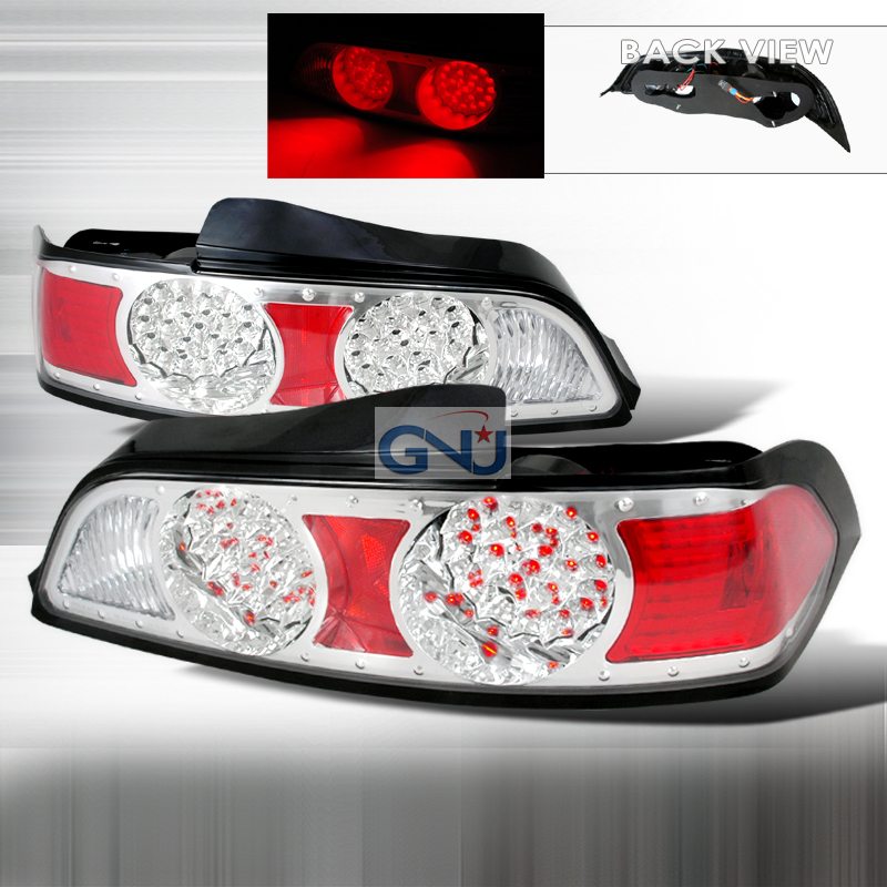 Acura RSX  2005-2006 Chrome LED Tail Lights