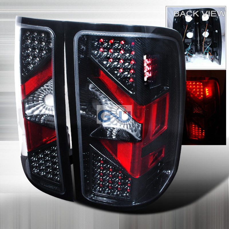 Gmc Sierra  2007-2012 Chrome LED Tail Lights