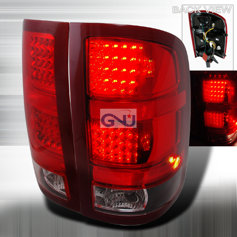 Gmc Sierra  2007-2012 Black LED Tail Lights
