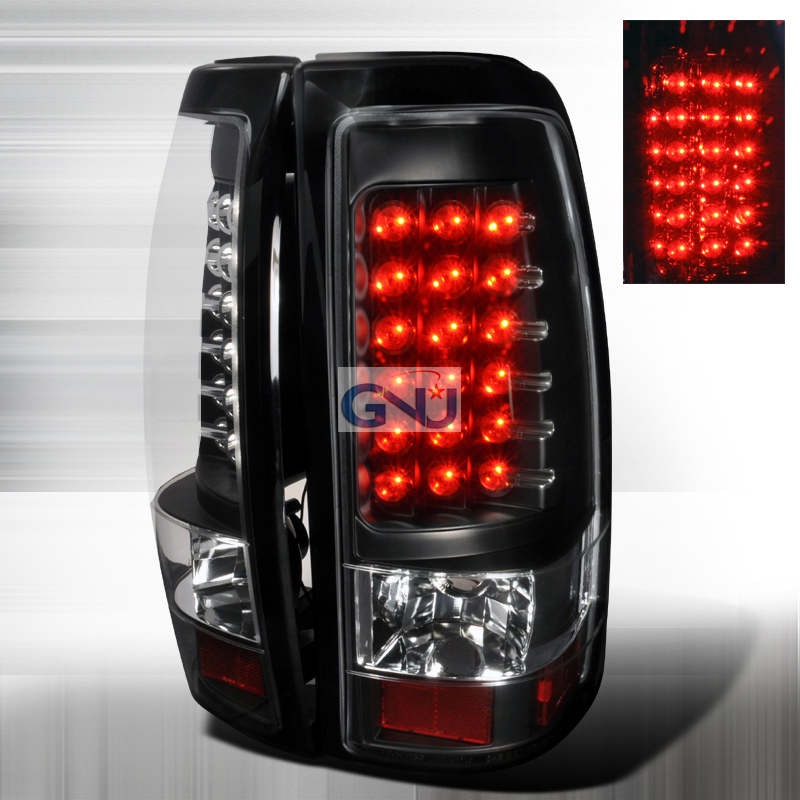 Chevrolet Silverado  2003-2006 Black LED Tail Lights
