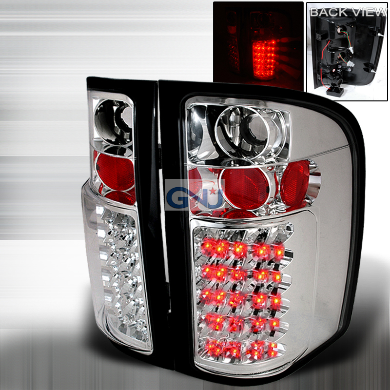 Chevrolet Silverado  2007-2011 Chrome LED Tail Lights
