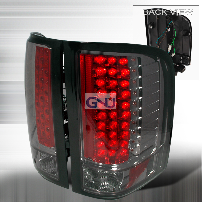 Chevrolet Silverado  2007-2011 Smoke LED Tail Lights