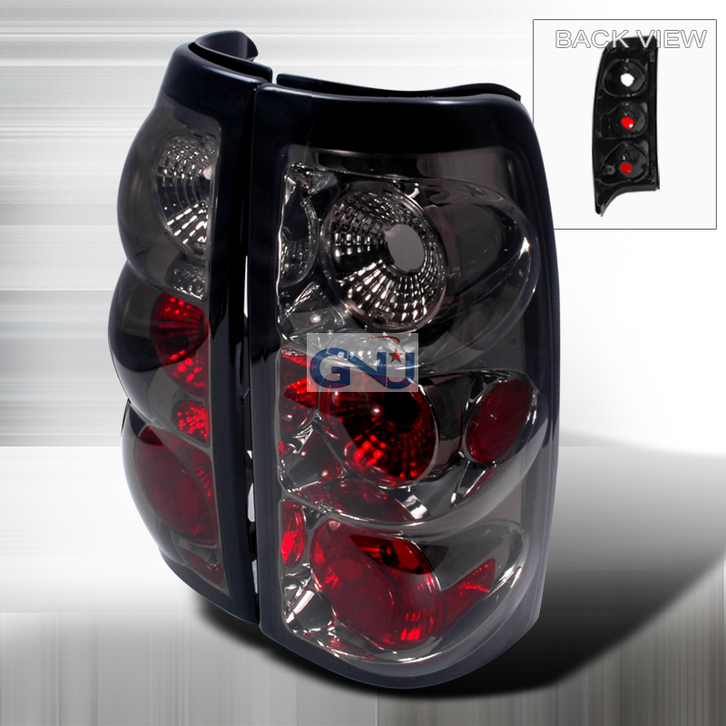 Chevrolet Silverado  1999-2002 Smoke Euro Tail Lights