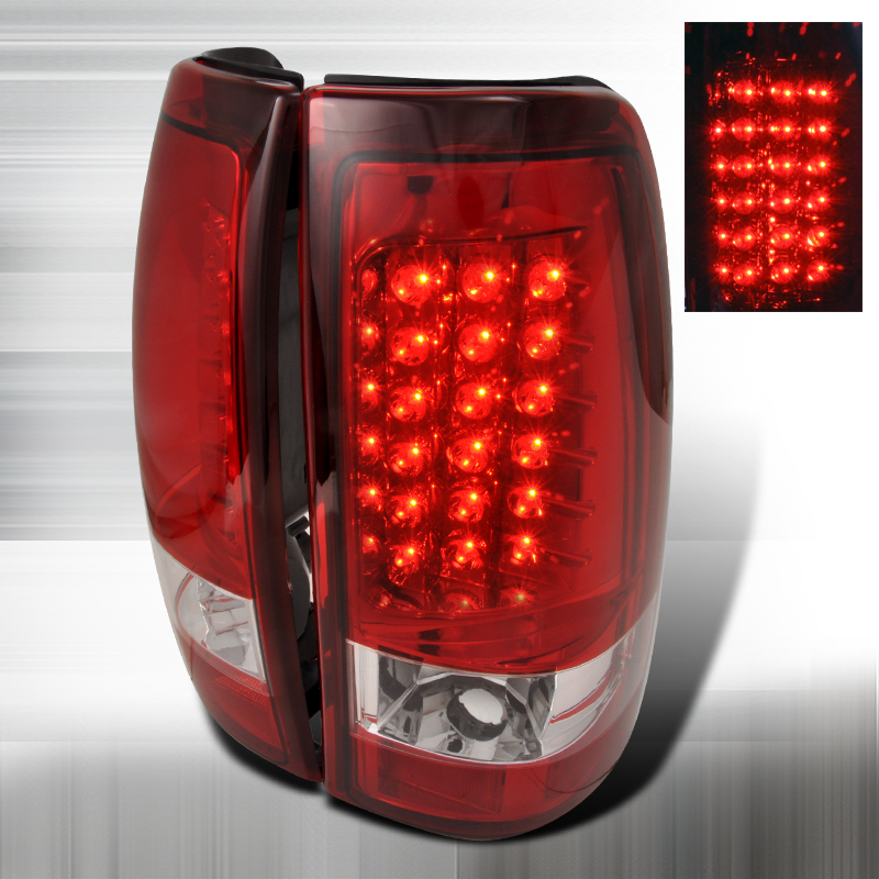 Chevrolet Silverado  1999-2002 Red LED Tail Lights