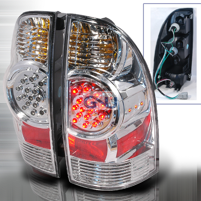 Toyota Tacoma  2005-2010 Chrome LED Tail Lights