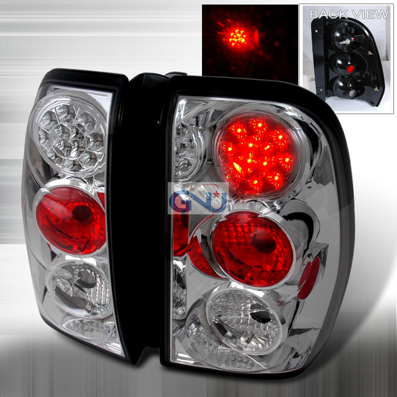 Chevrolet Trailblazer 2002-2007 LED Tail Lights -  Chrome