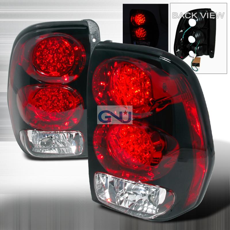 Chevrolet Trailblazer 2002 2007 Red Led Tail Lights By