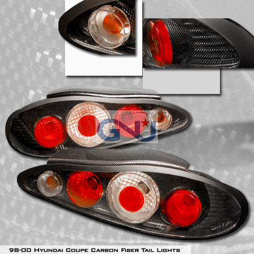 Hyundai Tiburon   1997-1999 Euro Tail Lights - Chrome