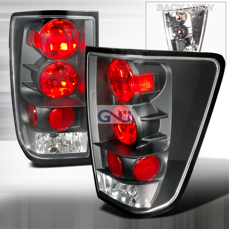 Nissan Titan  2004-2012 Black Euro Tail Lights