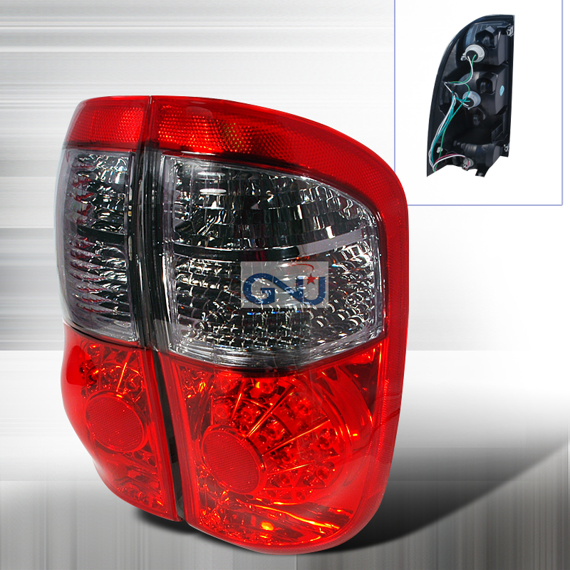 Toyota Tundra  2000-2006 Red / Smoke LED Tail Lights