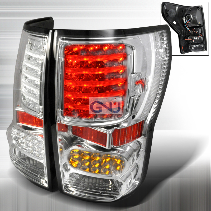 Toyota Tundra 2007-2010 LED Tail Lights -  Chrome