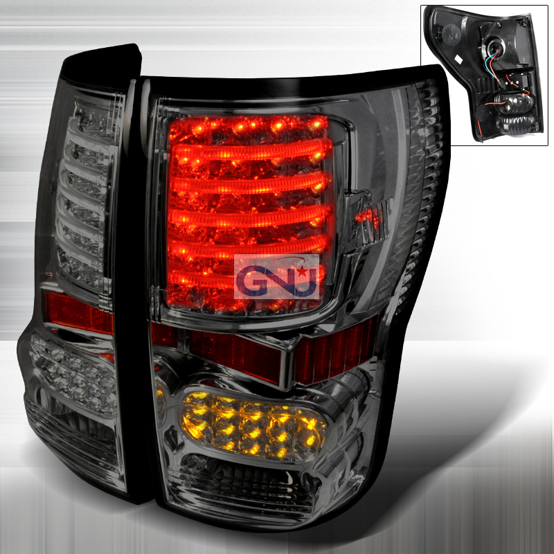 Toyota Tundra 2007-2010 LED Tail Lights -  Smoke