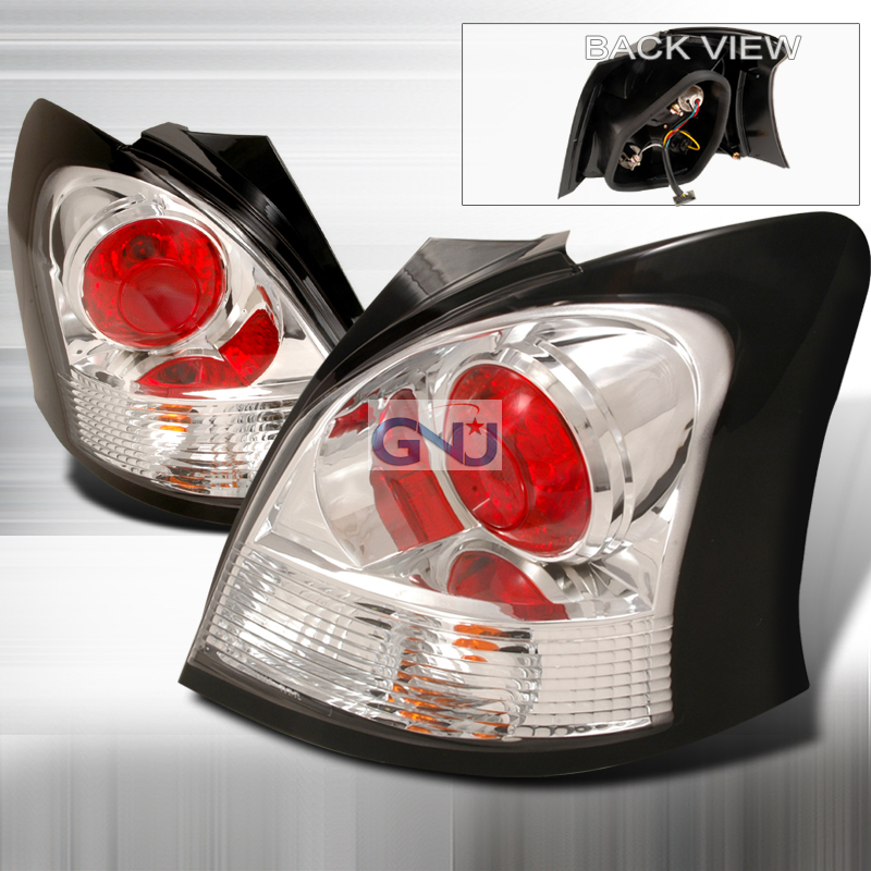 Toyota Yaris 3 Door 2007-2008 Chrome Euro Tail Lights