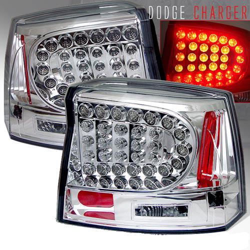 Dodge Charger 2005-2008 Chrome LED Tail Lights