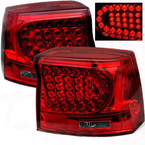 Dodge Charger 2005-2008 Red Housing with Smoked Lens LED Tail Lights