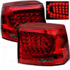 2008 Dodge Charger  Red Housing with Smoked Lens LED Tail Lights