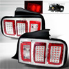 Ford Mustang 2005-2008 Chrome LED Tail Lights