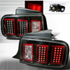 2008 Ford Mustang  Black LED Tail Lights