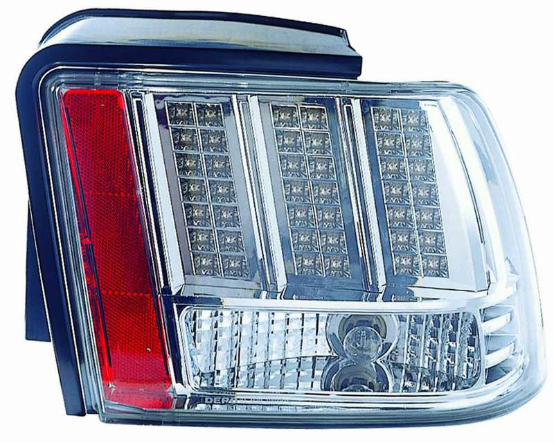 Ford Mustang 1999-2004 Black LED Tail Lights