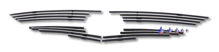 Mazda Mazda 6  2009-2010 Polished Main Upper Aluminum Billet Grille