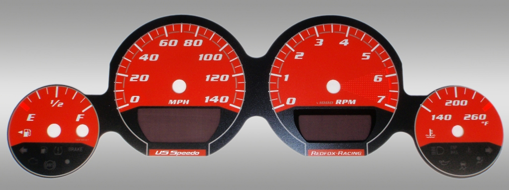 Dodge Challenger 2009-2009 Base Orange / Orange Night Performance Dash Gauges