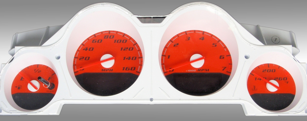 Dodge Charger 2005-2009 Rt Orange / Orange Night Performance Dash Gauges