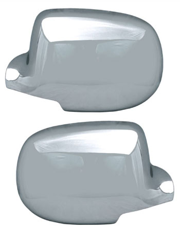 Chevrolet Silverado 2500hd 2007-2013, Half-Top Chrome Mirror Covers