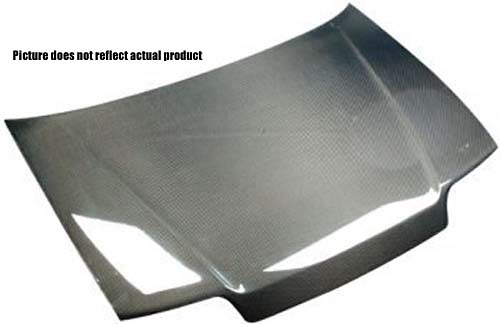 Honda Civic 2004 2 and 4 door non-Si Carbon Fiber Hood