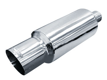 Ractive Round Muffler with 4.5 in. Slant Cut Tip